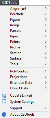 C3DTools Menu Example