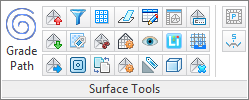 3dSurface Tools Ribbon